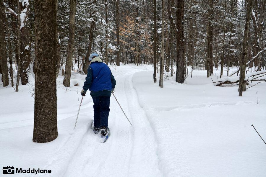 Activités hivernales dans Vaudreuil-Soulanges_Raquette dans le bois